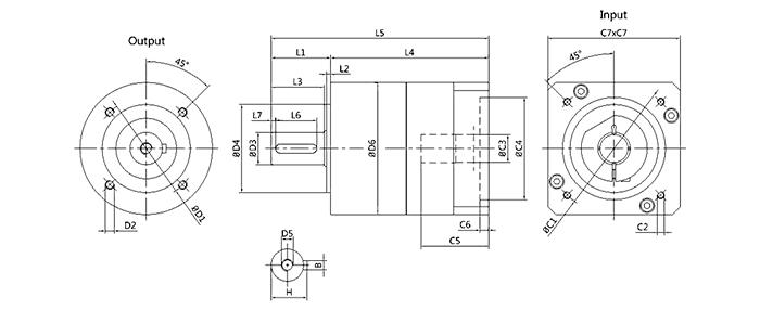 伺服电机齿轮减速器