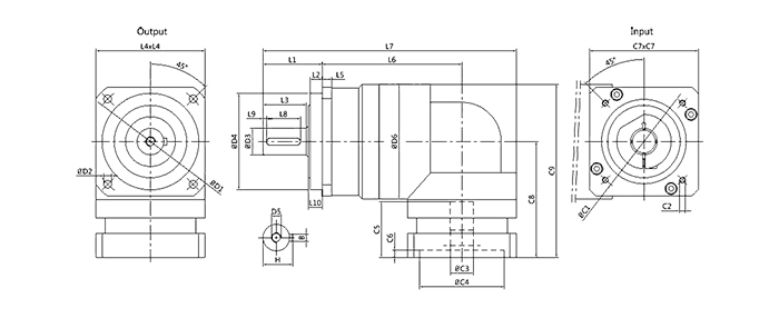 进口三洋伺服电机减速机