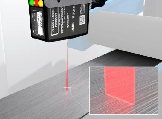 堡盟 OM70線激光測距傳感器:輕松檢測帶紋理表面,確保精確可靠的在線測量