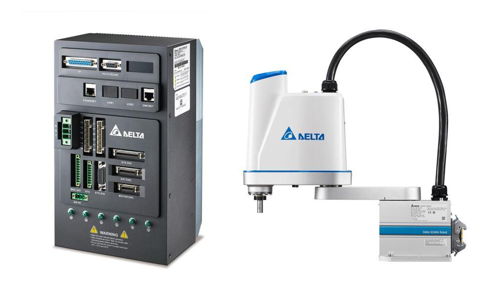 图3 台达机器人控制驱动一体机ASDA-MS搭配SCARA水平关节机器人,满足软性电路板移载的高速、高精需求,提升换料盘速度及节省人力成本.jpg