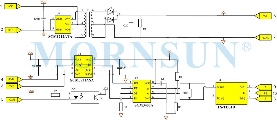 金升阳 RS-485收发器—SCM3403ASA