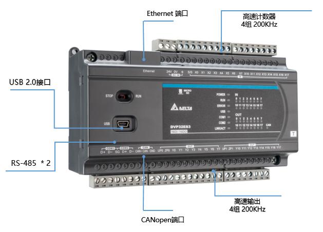 台达推出第三代标准型控制器DVP-ES3系列 满足不同设备智能化需求