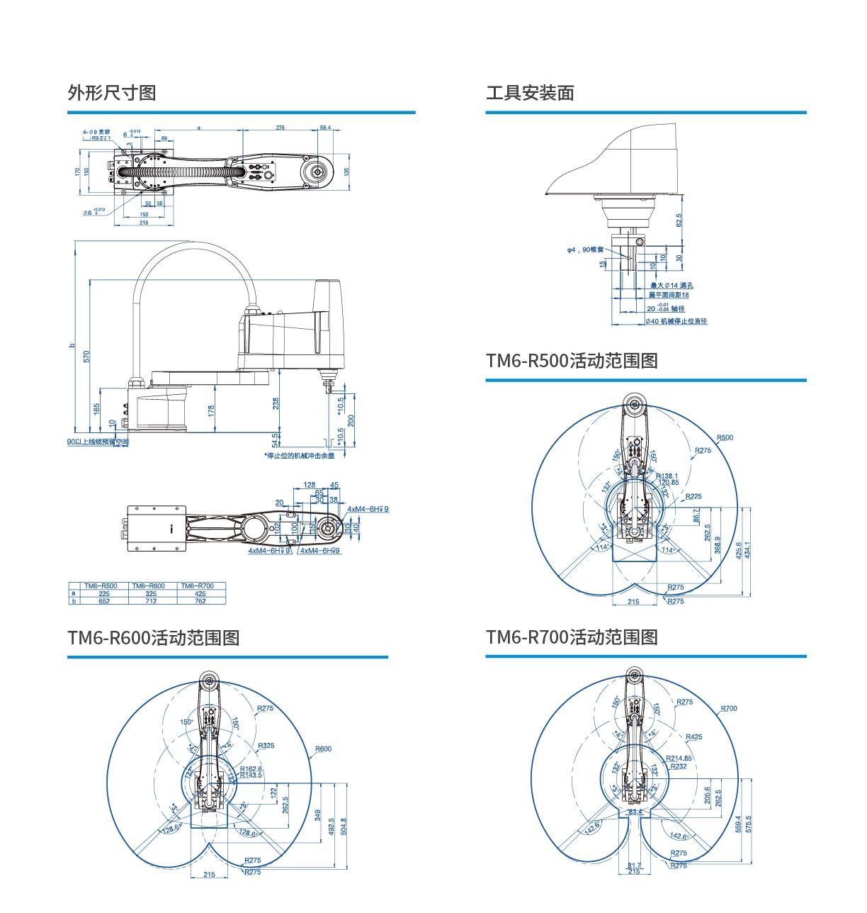 灵猴 TM6-R500R600R700  SCARA机器人