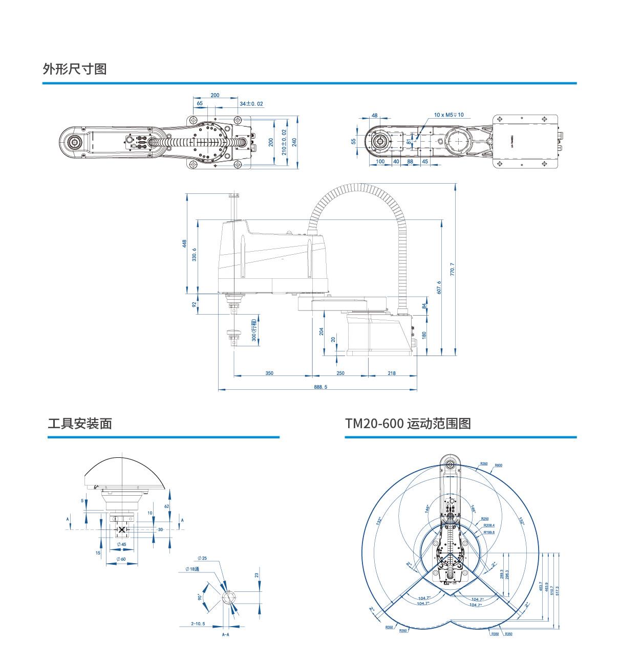 灵猴 TM20-R600 SCARA机器人