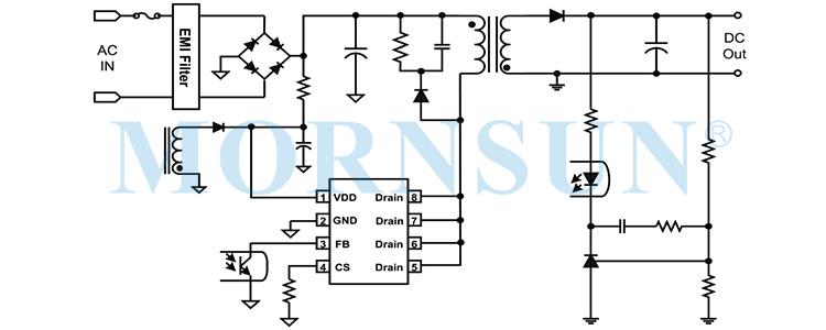 超低静态功耗、内置高压MOS电流型副边反馈控制芯片——SCM1733ASA