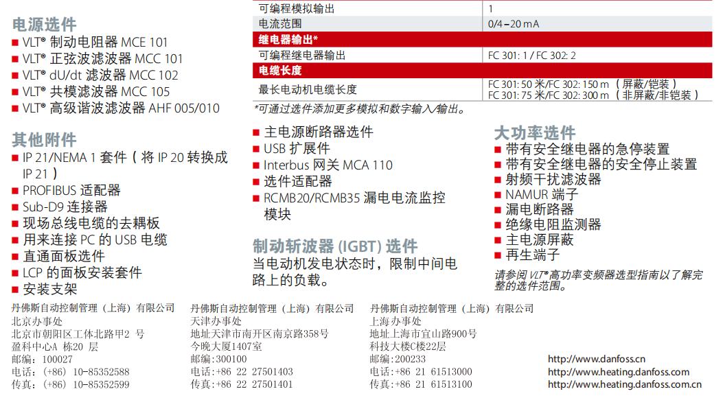丹佛斯 VLT® AutomationDrive FC 301/302