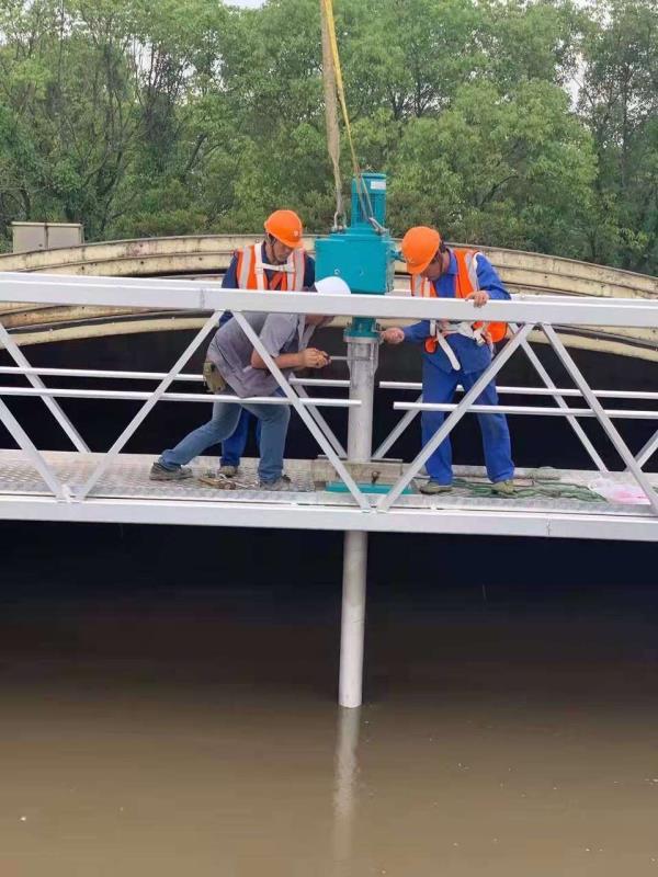 绍兴印染废水处理厂作业现场
