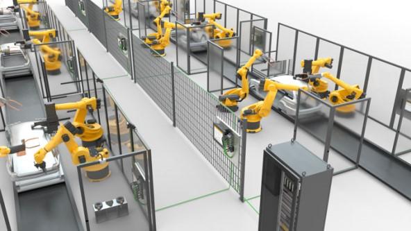机器人焊接单元与以太网联网