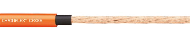 chainflex® 高柔性电动机电缆CF885,丝杠电缆/单芯