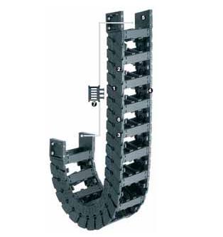 E6.35系列拖链,按每2个链节安装横杆