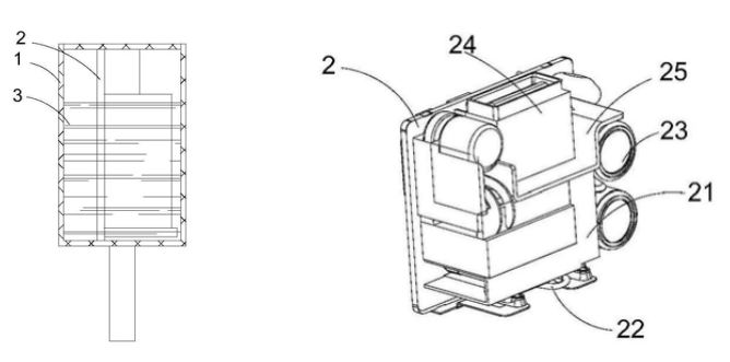 充电器及PCB板结构示意图